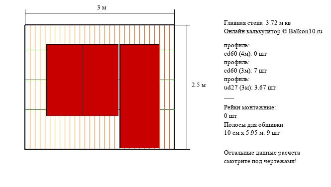 калькулятор для балкона